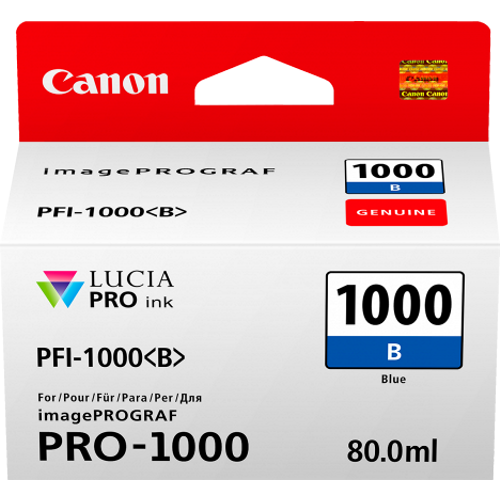 Canon PFI1000B Blue Ink Tank (Yield, up to 545 pages)