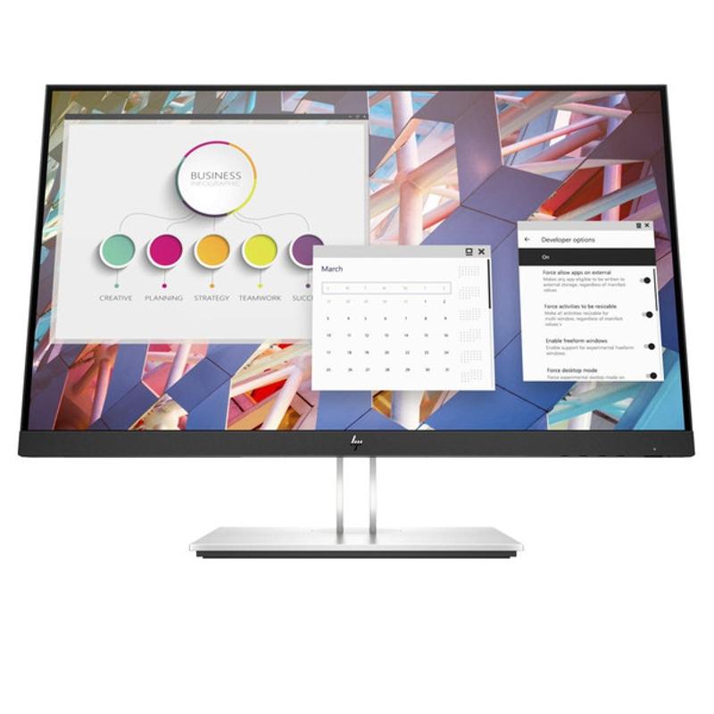 HP E24 G4 23.8 Inch IPS LED Monitor, 1920x1080, HDMI, VGA, DP, Pivot, Tilt, Swivel, H/Adjust, 3 Yr