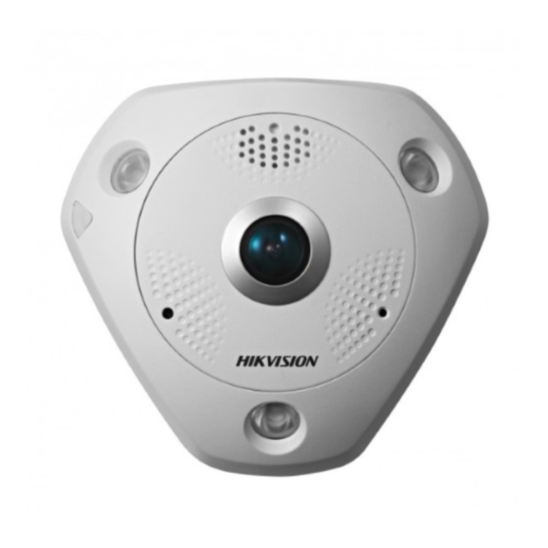 Hikvision DS-2CD63C2F-IV 12MP Outdoor Fisheye Camera, DWDR, 15m IR, ePTZ, IP66, 1.98mm