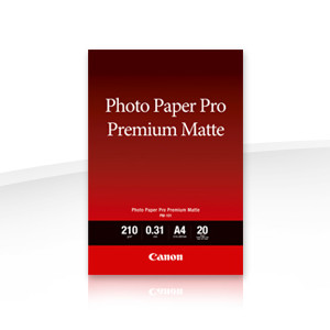 Canon PM101A4 Photo Paper Pro Premium, Matte, A4, 210gsm, 20 Sheets per pack