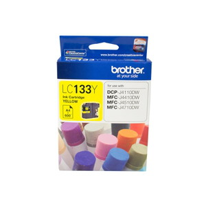 Brother LC-133Y Yellow Ink Cartridge (Yield, up to 600 pages)
