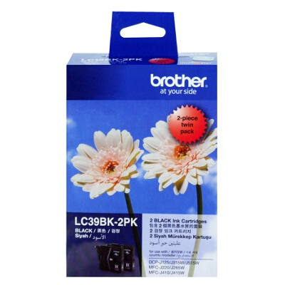 Brother LC-39BK2PK Black Ink Cartridge Twin Pack