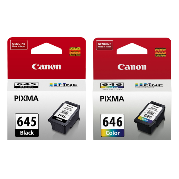 Canon PG645+ CL646, Black + Colour Ink Tank Combo Pack to suit MG2560