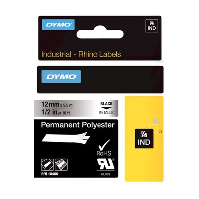 DYMO SD18486 Rhino 12mm Metallized Permanent Label