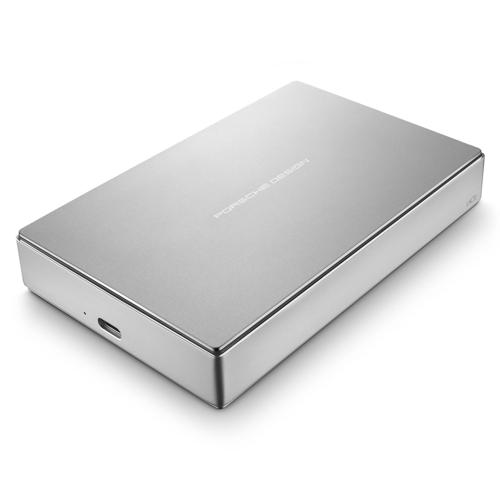 LaCie STFD5000400 5TB Porsche Design USB-C Portable Drive (Silver)