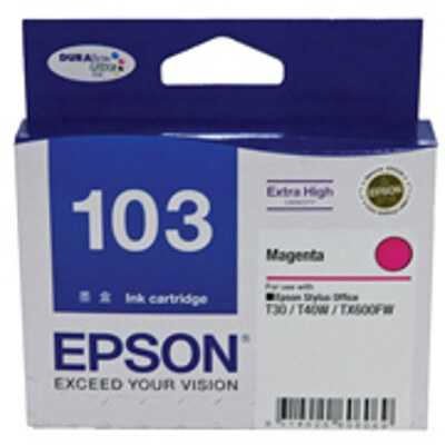 Epson Magenta Ink Cartrdige (High Yield) to suit Printers: TX600FW, T30, T40W