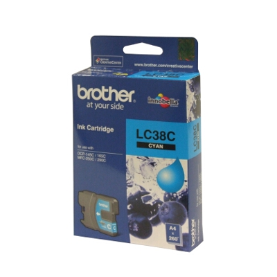 Brother LC-38C Cyan Ink Cartridge for DCP-145C/165C
