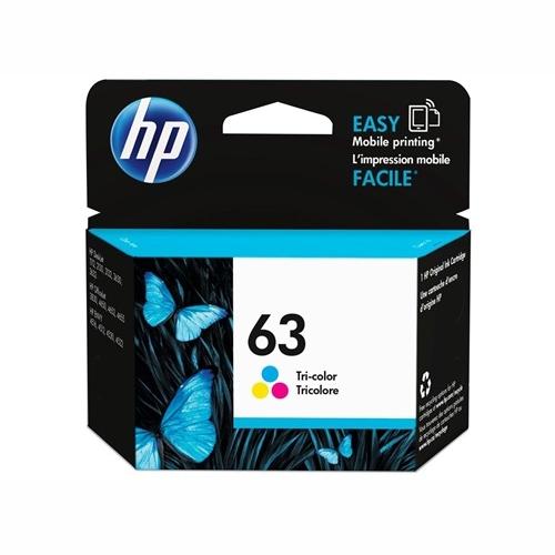 HP F6U61AA #63 Tri Colour Ink Cartridge (165 page yield)