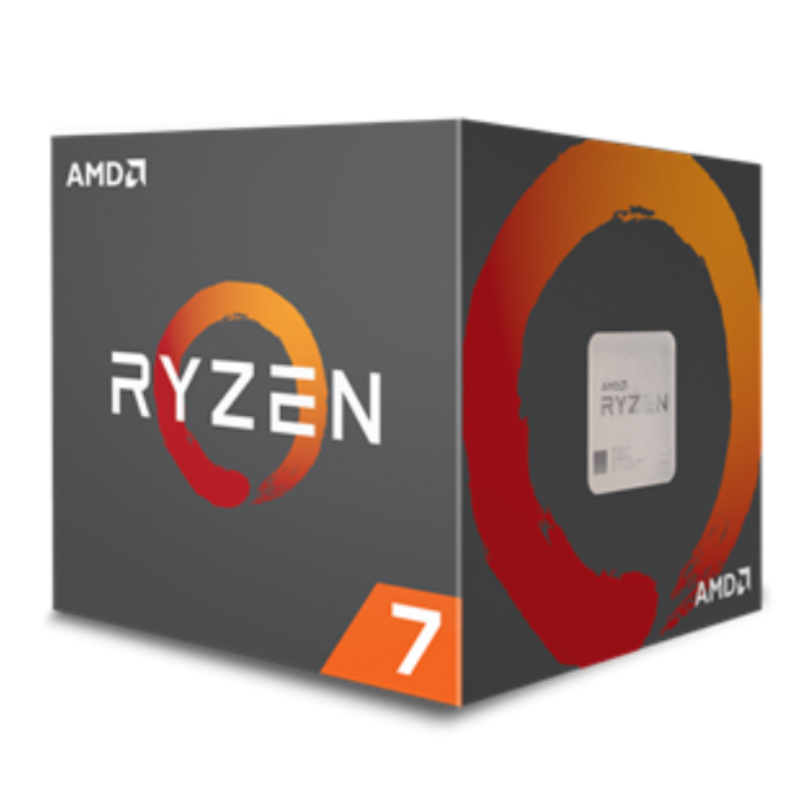 AMD Ryzen 7 2700, 8-Core/16-Thread, Unlocked, 4.1GHz,Socket AM4 with Wraith Spire cooler