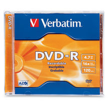 Verbatim DVD-R 4.7GB Jewel Case 1 Pack 16x