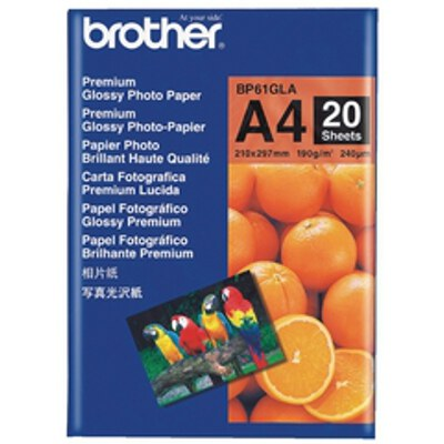 Brother BP-61GLA Glossy Paper, A4 (20 sheets)
