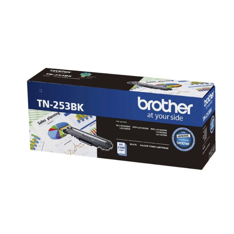 Brother TN-253BK Black Toner Cartridge, 2 500 pages