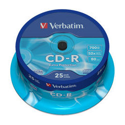 Verbatim 43432 CD-R 700MB 25 Pack Spindle 52x
