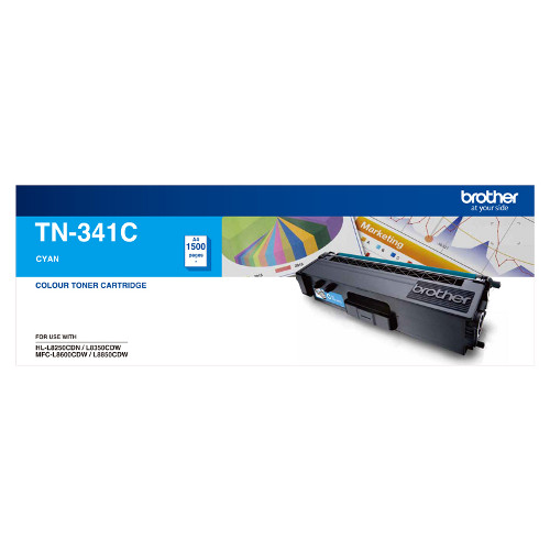 Brother TN-341C Standard Yield Cyan Toner, 1500 pages