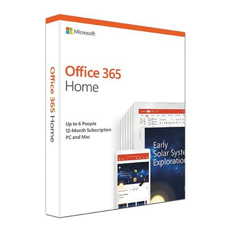 Microsoft 6GQ-00929 Office 365 Home MAC/WIN, No DVD Retail Box, 1YR SUB P4