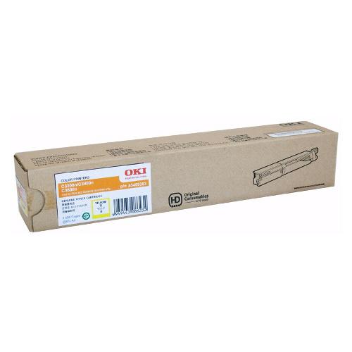 OKI Yellow High Yield Toner Cartridge to suit Printers: OKIC3300N/3400N/3600N (2,500 Yield)
