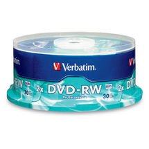 Verbatim DataLifePlus DVD-RW 4.7GB 2X 30 Pack Spindle