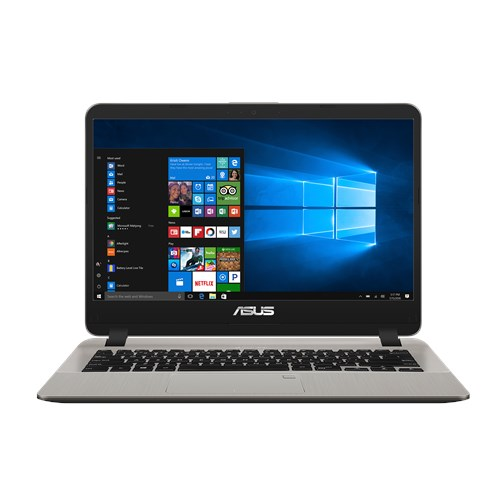 Asus Core i7-7500U 2.7/3.5Ghz, 8GB, 256G SSD, 14 Inch HD, No Optcial, Win 10 Pro 64