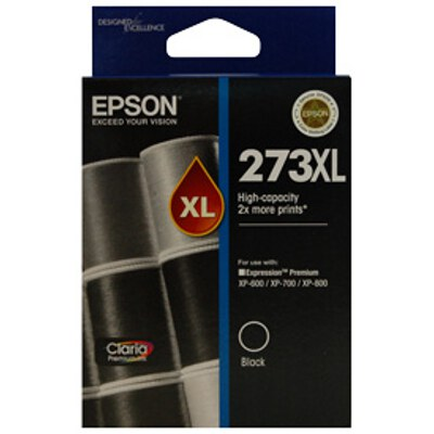 Epson C13T274192 High Capacity Claria Premium Black ink (Yields up to 500 pages)