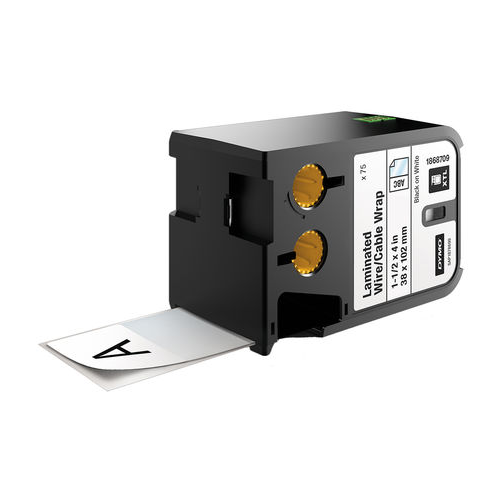 DYMO XTL 38x102mm Black/White SL Tape