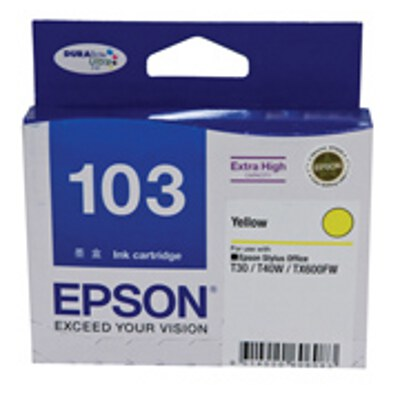 Epson Yellow Ink Cartrdige (High Yield) to suit Printers: TX600FW, T30, T40W