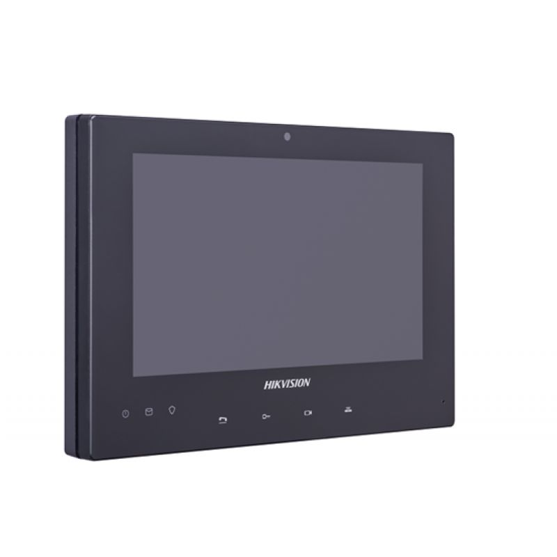 Hikvision DS-KH8340-TCE2,  2 Wire 7 Inch Room Station, Touchscreen, 1024 x 600, Black