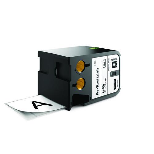 DYMO XTL 51x76mm Black/White Die Tape