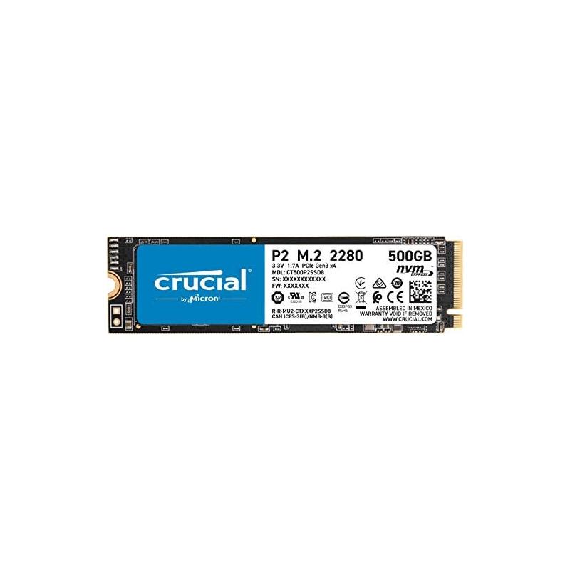 Crucial CT500P2SSD8 500GB M.2 Internal NVMe PCIe SSD