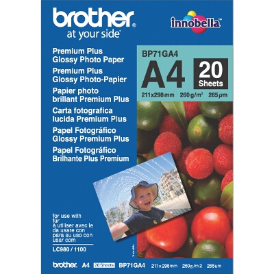 Brother A4 Premium Plus Glossy Paper (20 Sheets) - 260GSM