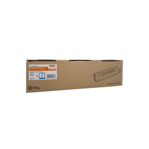 OKI Cyan Toner Cartridge 8600N (6,000 Yield)