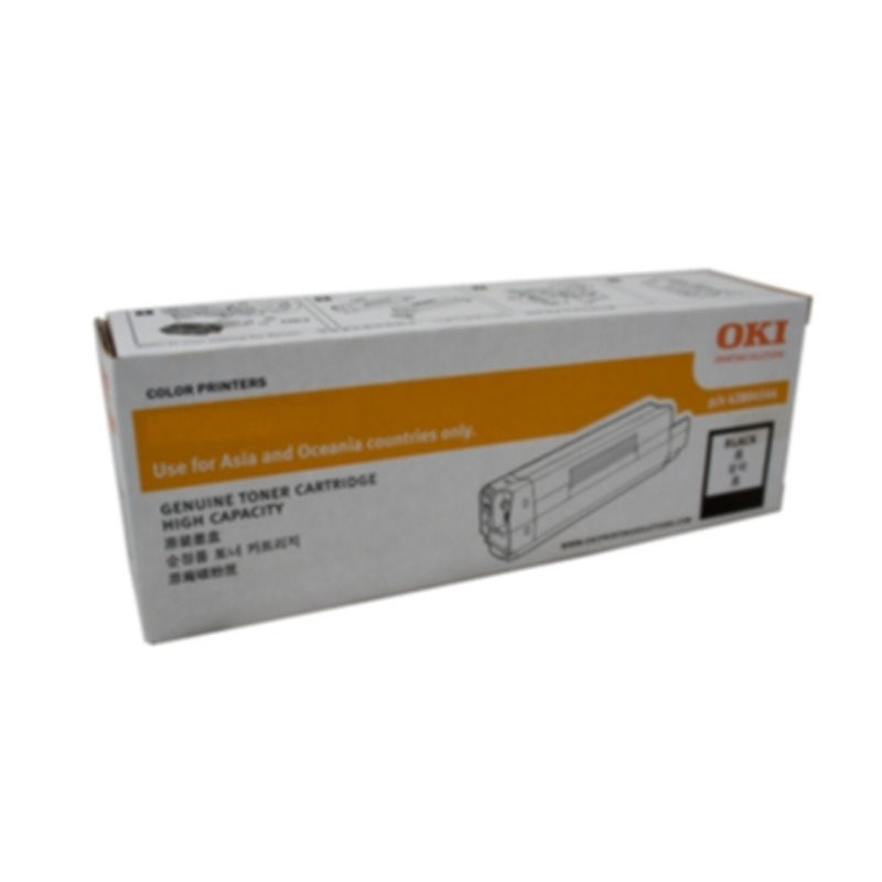 OKI 46490612 Black Toner Cartridge for C532dn/MC573dn (7,000 Yield @ ISO)