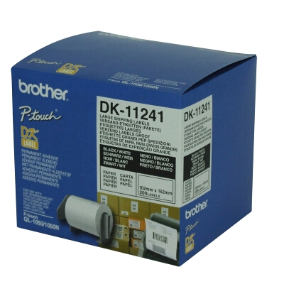 Brother Large Shipping Label 102mm x 152mm (200 Labels per Roll)