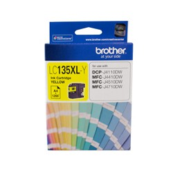 Brother LC-135XLY High Yield Yellow Ink Cartridge (Yield, up to 1,200 pages)