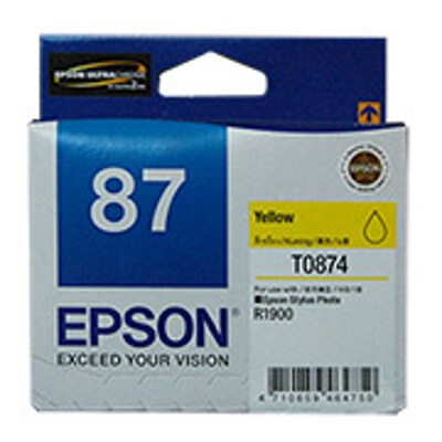 Epson C13T087490 Yellow Ink Cartridge