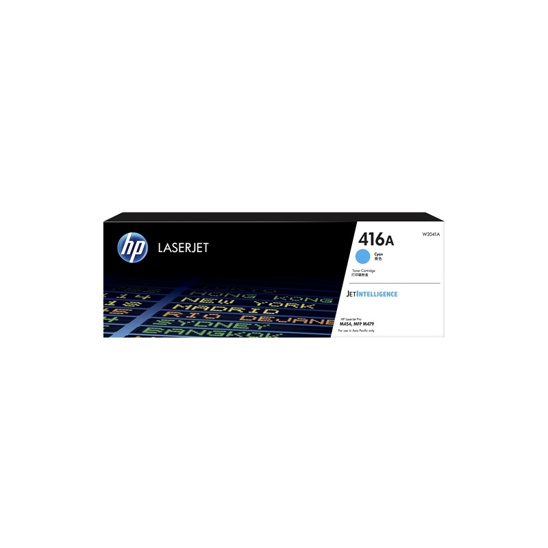 HP W2041A#416A Cyan Toner Cartridge  (Yield: Approx 2100 pages)