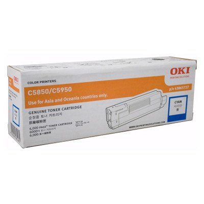 OKI TCOC5850CYAN Toner Cartridge to suit 5850/5950 Printers