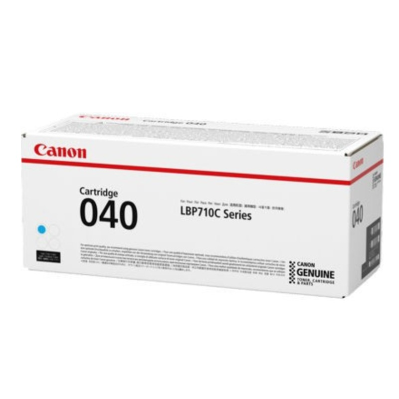 Canon CART040C, Cyan Toner Cartridge to suit LBP712CX (Yield, up to 5,400 pages)
