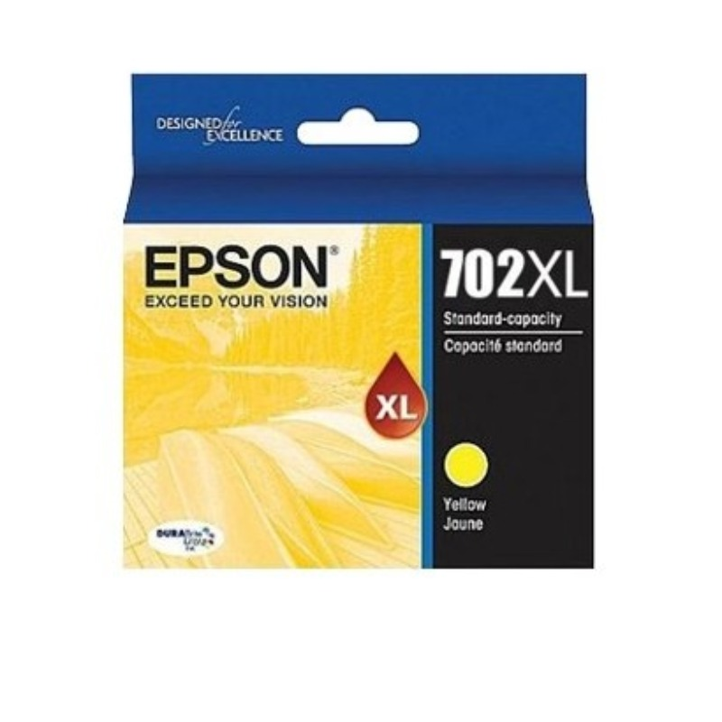 Epson C13T345492 High Yield 702XL Yellow Ink DURABrite