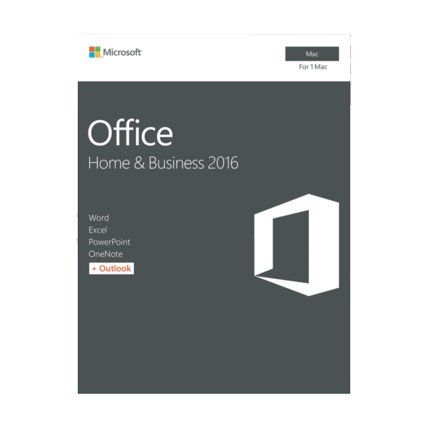 Microsoft W6F-00921 Office Home and Business 2016 for MAC, Retail