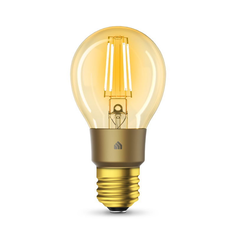 TP-Link KL60 Kasa Smart Wi-Fi Filament Bulb, Warm Amber - E27 Edison Screw