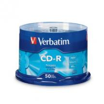 Verbatim Datalife CD-R 80 Min 50 Pack Spindle 52x