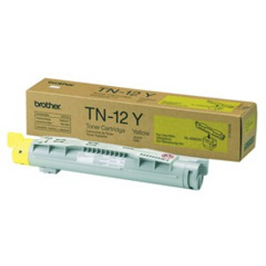 Brother TN-12Y Yellow Toner Cartridge for HL-4200CN (6600 Yield)