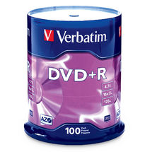 Verbatim 95098 DVD+R 4.7GB 100 Pack Spindle, 16x
