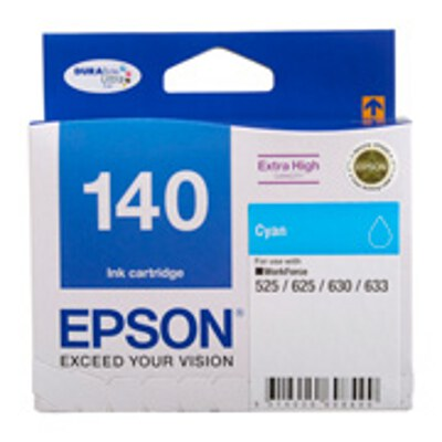 Epson C13T140292 Extra High Capacity Cyan ink cartridge to suit WORKFORCE 625, 630, 633