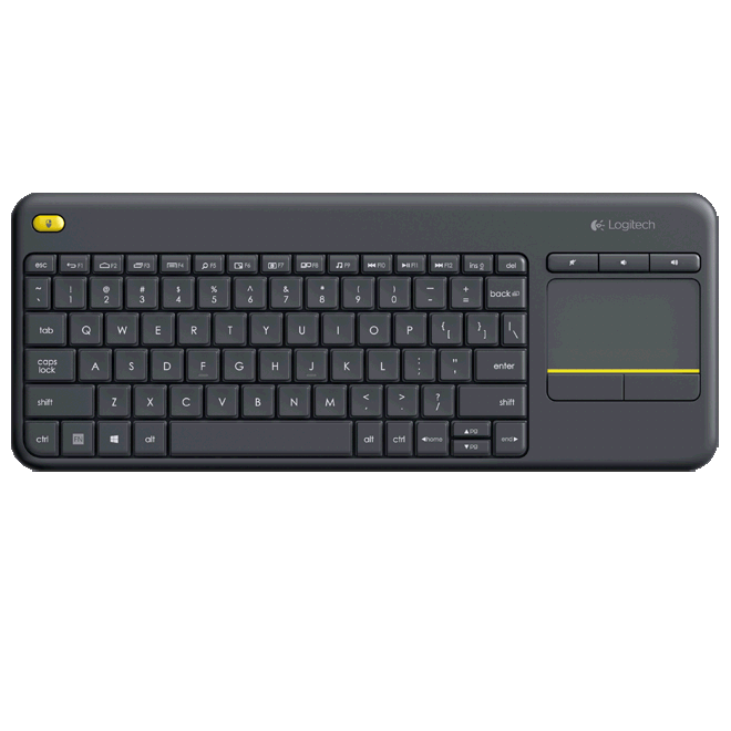Logitech 920-007165 K400 Plus Wireless Touch Keyboard - Black