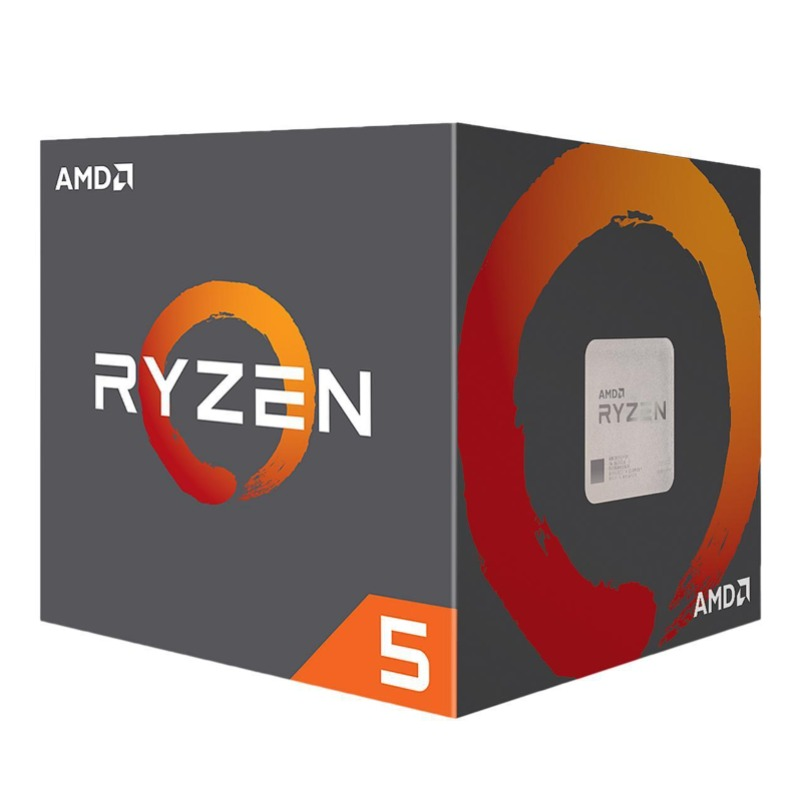 AMD Ryzen 5 2600, 6-Core/12-Thread, Unlocked, 3.9GHz, Socket AM4 with Wraith Stealth cooler