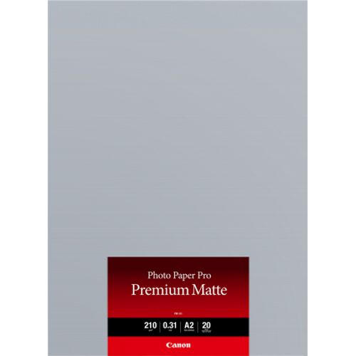 Canon PM101A2 20Sheets,A2 210gsm, Photo Paper Pro Premium Matte