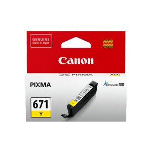 Canon CLI671Y Standard Capacity Yellow Ink Tank to suit MG5760/6860/7760 (Yield, 347 pages)