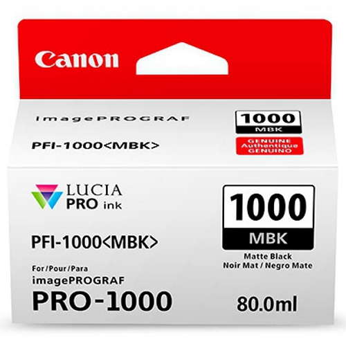 Canon PFI1000MBK Matte Black Ink Tank (Yield, up to 1,600 pages)