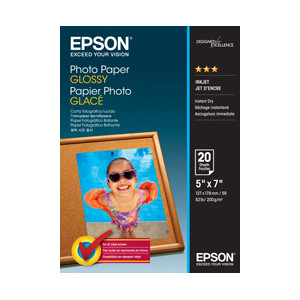 Epson C13S042544 Photo Paper Glossy, 5 Inch x 7 Inch Photo, 20 Sheets Per Pack
